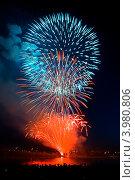 Купить «Салют 9 мая», фото № 3980806, снято 9 мая 2011 г. (c) Валышков Вячеслав / Фотобанк Лори