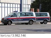 Купить «Полицейские автомобили. Австрия.», эксклюзивное фото № 3982146, снято 24 сентября 2012 г. (c) Александр Тарасенков / Фотобанк Лори