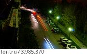 Ночное движение. Стоковое фото, фотограф Дмитрий Коробов / Фотобанк Лори