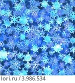 Снежинки, голубой фон. Стоковая иллюстрация, иллюстратор Наталья Хромова / Фотобанк Лори