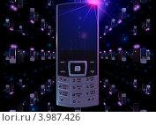 Мобильный телефон. Стоковая иллюстрация, иллюстратор Руслан Багаутдиинов / Фотобанк Лори