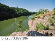 Скалистые берега реки Тетерев, Украина (2007 год). Стоковое фото, фотограф Владимир Фалин / Фотобанк Лори