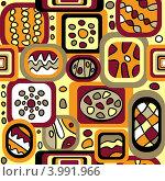 Купить «Бесшовный абстрактный геометрический фон», иллюстрация № 3991966 (c) Инна Грязнова / Фотобанк Лори