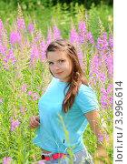 Купить «Портрет молодой  девушки», эксклюзивное фото № 3996614, снято 8 июля 2012 г. (c) Юрий Морозов / Фотобанк Лори