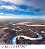 Купить «Лесистая равнина поздней осенью», фото № 3997654, снято 6 ноября 2012 г. (c) Владимир Мельников / Фотобанк Лори