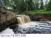 Водопад на реке Саблинка. Стоковое фото, фотограф Екатерина Рыбникова / Фотобанк Лори