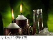 Купить «Спа-натюрморт со свечами», фото № 4009970, снято 23 февраля 2012 г. (c) Дмитрий Эрслер / Фотобанк Лори