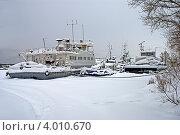 Зимовка судов в Шлиссельбуре (2010 год). Редакционное фото, фотограф Терещенко Марина / Фотобанк Лори