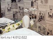 Купить «Романтический ужин», фото № 4012022, снято 9 ноября 2012 г. (c) Екатерина Афанасьева / Фотобанк Лори