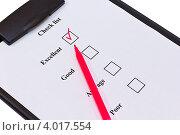 Список и красный фломастер. Стоковое фото, фотограф Владимир Никифоров / Фотобанк Лори