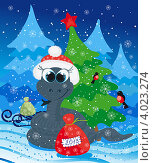 Купить «Открытка к Новому году», иллюстрация № 4023274 (c) Tati@art / Фотобанк Лори
