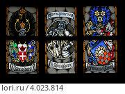 Купить «Витражи на окнах Кафедрального собора г. Калининград», эксклюзивное фото № 4023814, снято 16 июля 2008 г. (c) Алексей Гусев / Фотобанк Лори