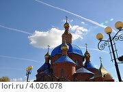 Храм на фоне неба. Стоковое фото, фотограф Тарасенко Татьяна / Фотобанк Лори