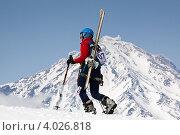 Купить «Ски-альпинизм. Камчатка, Корякский вулкан», фото № 4026818, снято 21 апреля 2012 г. (c) А. А. Пирагис / Фотобанк Лори
