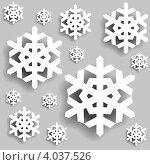 Купить «Фон со снежинками», иллюстрация № 4037526 (c) Катыкин Сергей / Фотобанк Лори
