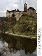 Замок Локет в Чехии (Карловы Вары) Стоковое фото, фотограф Наталья Немчинова / Фотобанк Лори
