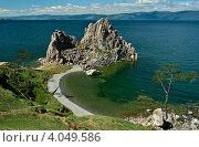 Купить «Мыс бурхан (скала Шаманка), остров Ольхон», фото № 4049586, снято 11 августа 2011 г. (c) Opra / Фотобанк Лори