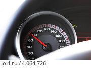 Купить «Спидометр на приборной панели автомобиля», фото № 4064726, снято 18 апреля 2010 г. (c) Иван Михайлов / Фотобанк Лори