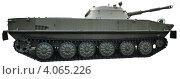 Купить «Плавающий танк ПТ 76. Изолировано», фото № 4065226, снято 8 августа 2012 г. (c) Голованов Сергей / Фотобанк Лори