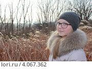 Девочка-подросток в поле. Стоковое фото, фотограф Диана Линевская / Фотобанк Лори