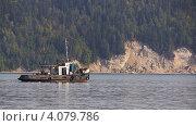 Буксир на реке. Стоковое фото, фотограф Павел Спирин / Фотобанк Лори