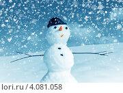 Купить «Снеговик на улице», фото № 4081058, снято 1 апреля 2012 г. (c) ElenArt / Фотобанк Лори