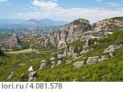 """Вид на монастыри """"Метеоры"""" в Греции (2012 год). Стоковое фото, фотограф Алексей Кондратьев / Фотобанк Лори"""