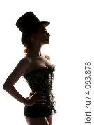 Купить «Силуэт сексуальной женщины в корсете», фото № 4093878, снято 30 сентября 2009 г. (c) Syda Productions / Фотобанк Лори