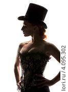 Купить «Силуэт сексуальной женщины в корсете», фото № 4095302, снято 30 сентября 2009 г. (c) Syda Productions / Фотобанк Лори