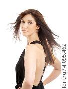 Купить «Портрет ривлекательной брюнетки на белом фоне», фото № 4095462, снято 7 января 2007 г. (c) Syda Productions / Фотобанк Лори