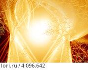 Купить «Новогодний золотистый фон со снежинками», иллюстрация № 4096642 (c) ElenArt / Фотобанк Лори