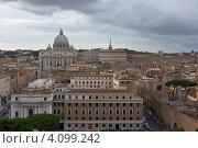 Вид на Рим и Собор Святого Петра (2011 год). Стоковое фото, фотограф Коршунов Владимир / Фотобанк Лори