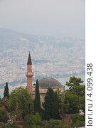 Мечеть в горах на фоне Алании (2012 год). Стоковое фото, фотограф Елена Серкова / Фотобанк Лори