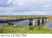 Купить «Город Киров, мост через реку Вятка», фото № 4102754, снято 26 августа 2012 г. (c) Андрей Штанько / Фотобанк Лори