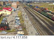 Привокзальная площадь города Воркуты (2012 год). Редакционное фото, фотограф Оксана Кабрина / Фотобанк Лори
