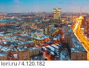 Купить «Московское утро», эксклюзивное фото № 4120182, снято 14 декабря 2012 г. (c) Зобков Георгий / Фотобанк Лори