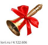Купить «Школьный колокольчик с красным бантом», фото № 4122606, снято 16 декабря 2012 г. (c) Анна Менщикова / Фотобанк Лори