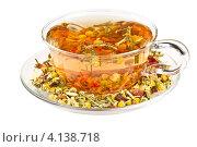 Купить «Травяной чай в прозрачной чашке», фото № 4138718, снято 16 декабря 2012 г. (c) Наталия Пыжова / Фотобанк Лори