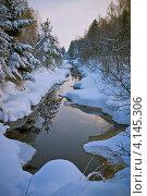 Купить «Живописный ручей в зимнем лесу», фото № 4145306, снято 9 декабря 2012 г. (c) Ольга Денисова / Фотобанк Лори