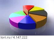 Купить «Круговая бизнес-диаграмма. 3D», иллюстрация № 4147222 (c) Воробьева Анна / Фотобанк Лори