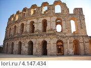 Амфитеатр Марка Антония Гордиана в Тунисе (2012 год). Стоковое фото, фотограф Барабанов Максим / Фотобанк Лори