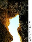 Старые скалы, вид из пещеры. Стоковое фото, фотограф Андрей Сериков / Фотобанк Лори
