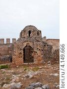 Алания, Византийская церковь (2012 год). Стоковое фото, фотограф Елена Серкова / Фотобанк Лори