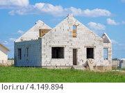 Купить «Строительство дома из силикатных блоков», фото № 4149894, снято 25 августа 2011 г. (c) Икан Леонид / Фотобанк Лори