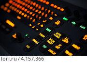 Купить «Чёрная клавиатура с подсвеченными оранжевыми клавишами», фото № 4157366, снято 25 сентября 2012 г. (c) EugeneSergeev / Фотобанк Лори