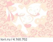 Открытка, фон. День святого Валентина. Стоковая иллюстрация, иллюстратор Ольга Рыбкина / Фотобанк Лори