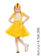 Купить «Красивая девочка в жёлтом карнавальном платье», фото № 4166306, снято 6 декабря 2011 г. (c) Сергей Сухоруков / Фотобанк Лори