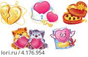 Купить «Иконки ко Дню Святого Валентина», иллюстрация № 4176954 (c) Савицкая Татьяна / Фотобанк Лори
