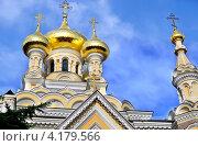 Купить «Ялтинский кафедральный собор Святого Александра Невского», фото № 4179566, снято 12 августа 2012 г. (c) Несинов Олег / Фотобанк Лори