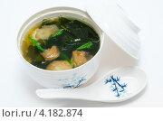 Купить «Суп из морепродуктов», фото № 4182874, снято 7 декабря 2011 г. (c) Александр Подшивалов / Фотобанк Лори